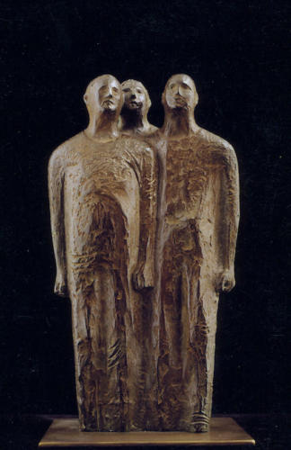 "F.482""Hombres""1975-Bronce.20x15x20 cm"